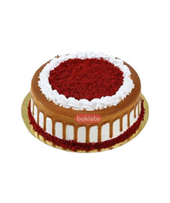 Red Velvet With Caramel Cake