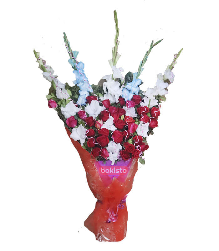 Red And Purple Flowers Bouquet