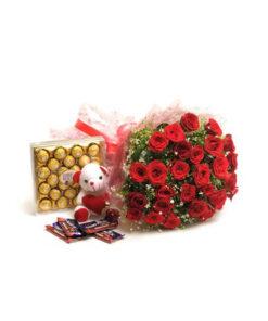 Ferrero Rocher Cake with flower