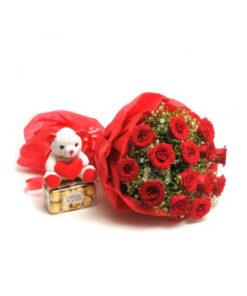 Flower With Teddy Bear