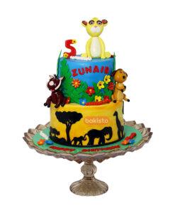 Animal Character Cake