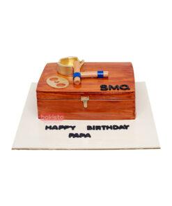 Cigar Theme Cake