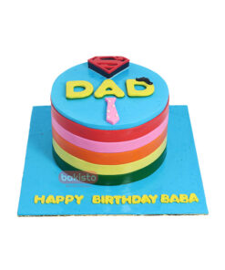 Father's Day Multi Color Shirt Cake