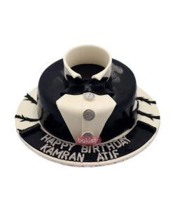 White & Black Shirt Cake