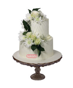 flower with nikkah cake