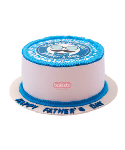 Blue Father's Day Cake