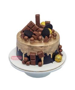 Golden & Black Chocolate Cake