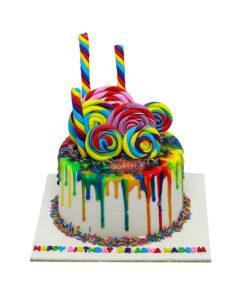 Multi Color LolliPop Cake