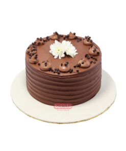 Chocolate Fudge With Flower Cake