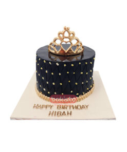 Black Cake With Crown Cake
