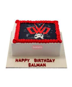 Wrestling Picture Cake