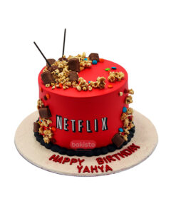 Netflix With Pop Corn Cake