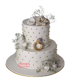 Two Tier Engagement Cake