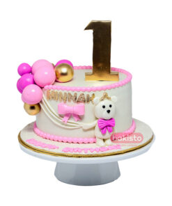 Pink Kitty Cake For Girl