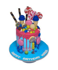 Lollipop & Cone Cake