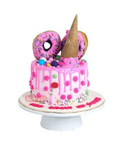 Pink Donut Cake For Kids