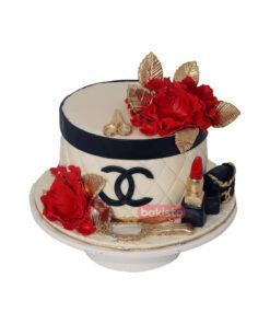 Red Flower Makeup Cake